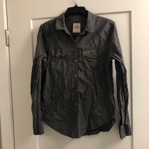 Gray Hollister button down shirt